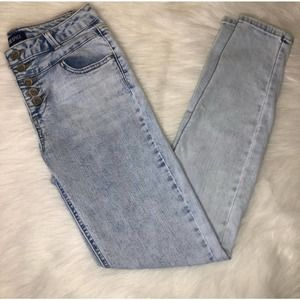 Blue Spice White Wash Skinny Jeans